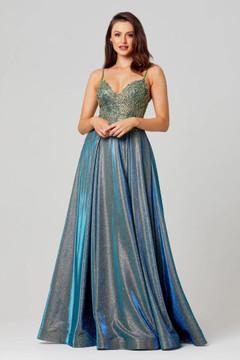 Ivy Shimmer Formal Dress by Tania Olsen Teal