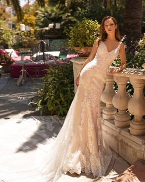 Marika Gown H1431 by Moonlight Bridal