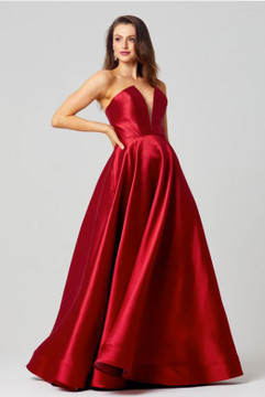 Emma Strapless Satin Formal Dress