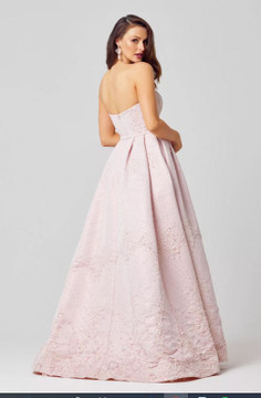 Everlee Strapless A-Line Evening Dress by Tania Olsen Designs