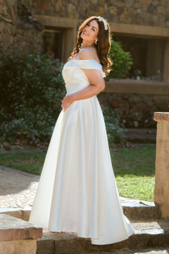 Beth A-Line Evening Dress by Tania Olsen Designs PO861 in Pure White