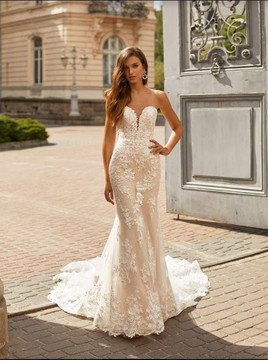 Lyric Wedding Gown H1461 by Moonlight Bridal