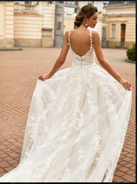 Gracelynn Wedding Gown H1463 by Moonlight Bridal