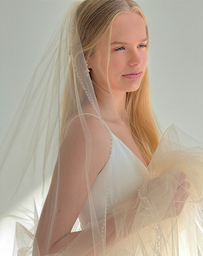 Sparkle and Shimmer Long Veil