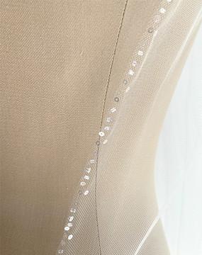 Petite Glass Beaded Edge Veil