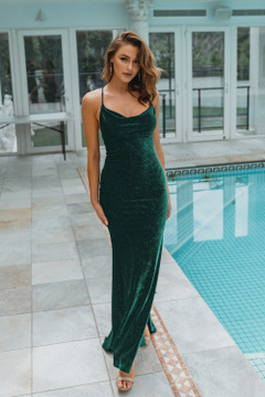 Carlisle Gown by Tania Olsen in Emerald