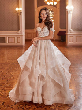 Candence Wedding Gown J6823 by Moonlight Bridal