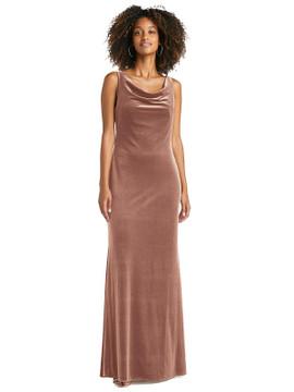 Cowl-Neck Convertible Velvet Maxi Slip Dress - Sloan by Lovely LB019 in 8 colors