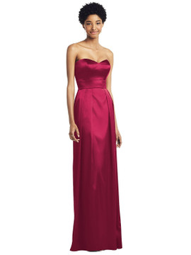 Sweetheart Strapless Pleated Skirt Dress with Pockets by Social Bridesmaid 8196 in 33 colors
