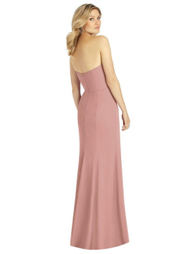 Strapless Chiffon Trumpet Gown with Front Slit by After Six 6803 in 64 colors