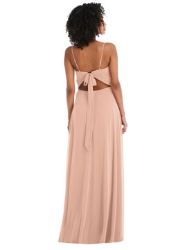 Tie-Back Cutout Maxi Dress with Front Slit by  After Six 1548 available in 64 colors