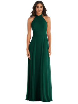 High Neck Halter Backless Maxi Dress By After Six 1545 available in 64 colors