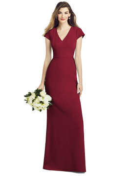 Cap Sleeve A-line Crepe Gown with Pockets by  After Six 6825 in 34 colors