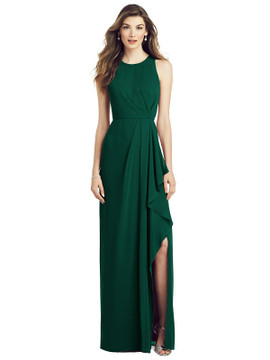 Sleeveless Chiffon Dress with Draped Front Slit by  After Six 6818 in 64 colors