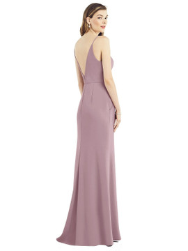 V-Back Spaghetti Strap Maxi Dress with Pockets by  After Six 6824 in 34 colors