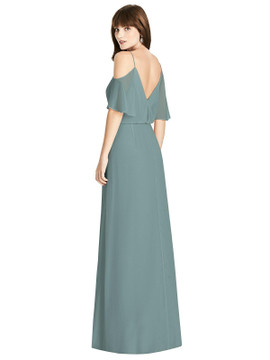 Ruffled Cold-Shoulder Blouson Maxi Dress by  After Six 6781 in 64 colors