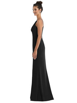 Open-Back High-Neck Halter Trumpet Gown by Thread Bridesmaid