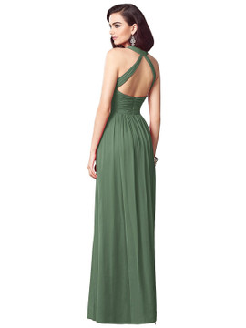 Ruched Halter Open-Back Maxi Dress - Jada by Thread Bridesmaid Style TH032 in 61 colors