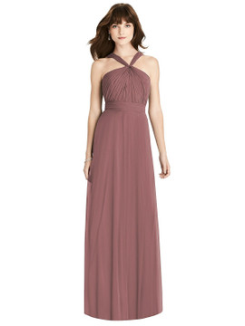 Twist Halter Chiffon Maxi Dress - James by Thread Bridesmaid Style TH033 in 61 colors