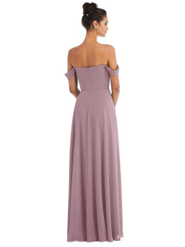 Off-the-Shoulder Draped Neckline Maxi Dress Thread Bridesmaid Style TH065
