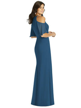 Ruffle Cold-Shoulder Mermaid Maxi Dress Thread Bridesmaid Style TH010