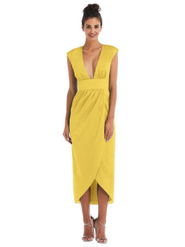 Open-Neck Tulip Skirt Madi Dress by Thread Bridesmaid Style TH071 in 28 colors in daffodil