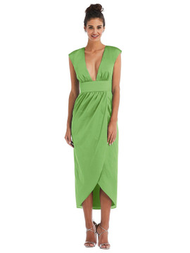 Open-Neck Tulip Skirt Madi Dress by Thread Bridesmaid Style TH071 in 28 colors in appletini