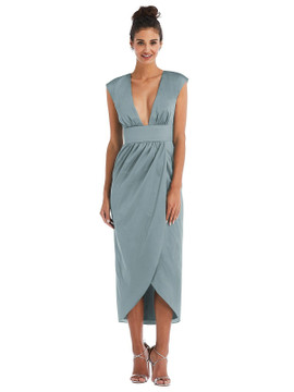 Open-Neck Tulip Skirt Madi Dress by Thread Bridesmaid Style TH071 in 28 colors