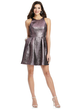 Metallic Halter Cocktail Dress with Pockets by Thread Bridesmaid Style TH023 in 4 colors shimmering