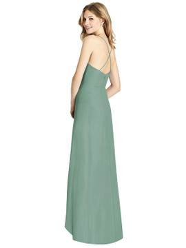 Ruffled Wrap High-Low Maxi Dress by Jenny Packham Dress JP1006 in 64 colors