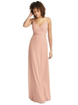 Spaghetti Strap Criss Cross Bodice Chiffon Dress by Social Bridesmaid 8192 in 64 colors
