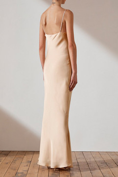 Shona Joy Bias Cowl Slip Dress - Champagne - store sample size 6 only