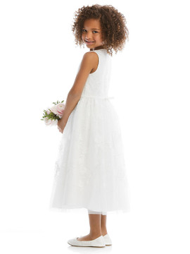 Dessy Flower Girl Dress FL4065  in Ivory