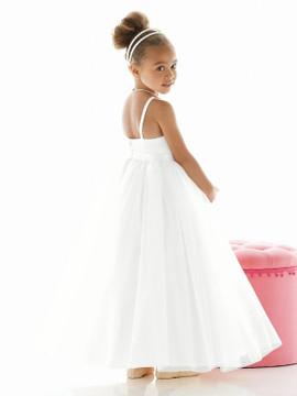 Dessy Flower Girl Dress FL4020 in Ivory & White