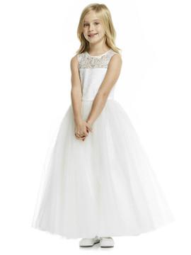 Dessy Flower Girl Dress FL4052  in Ivory
