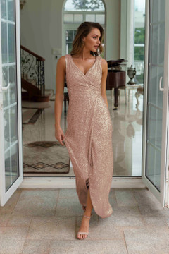 Alexandria TO857 Bridesmaids Dress by Tania Olsen in Rose