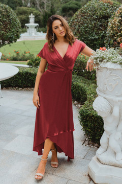 Napier TO868 Bridesmaids Dress by Tania Olsen in Paprika