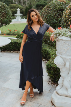 Napier TO868 Bridesmaids Dress by Tania Olsen in Navy
