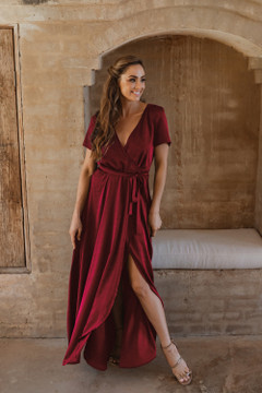 Chester TO866 Bridesmaids Dress by Tania Olsen in Wine
