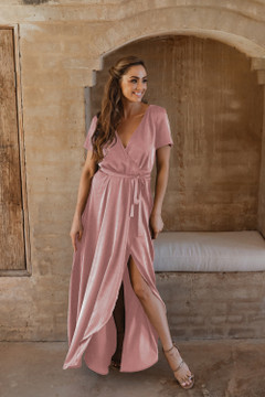 Chester TO866 Bridesmaids Dress by Tania Olsen in Rose