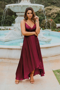 Kyoto TO869 Bridesmaids Dress by Tania Olsen in Wine