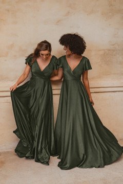 Auckland TO872 Bridesmaids Dress by Tania Olsen in Olive