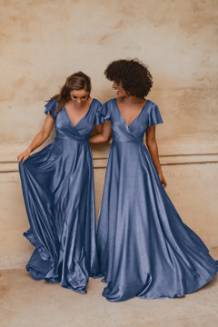 Auckland TO872 Bridesmaids Dress by Tania Olsen in Dusty Blue