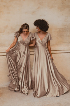Auckland TO872 Bridesmaids Dress by Tania Olsen in Champagne