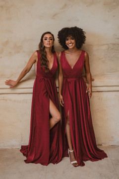 Napa TO861 Bridesmaids Dress by Tania Olsen in Wine