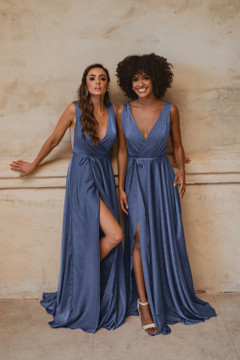 Napa TO861 Bridesmaids Dress by Tania Olsen in Dusty Blue
