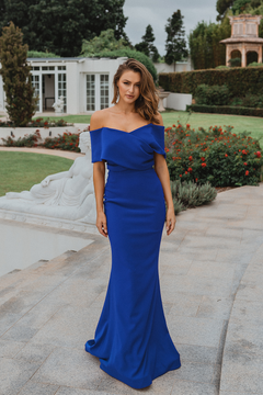 Chicago PO921 Evening Dress by Tania Olsen in Cobalt