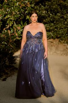 Delhi PO897 Evening Dress by Tania Olsen in Navy
