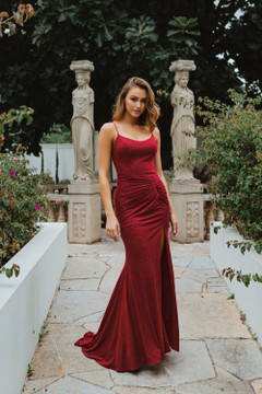 Shanghai PO907 Evening Dress by Tania Olsen in Red