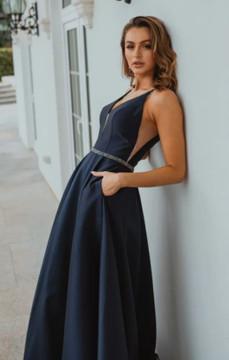 Linz PO896 Evening Dress by Tania Olsen in Navy